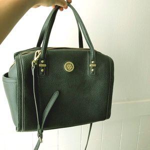 Anne Klein Black Leather Satchel Purse